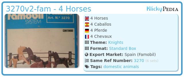 Playmobil 3270v2-fam - 4 Horses