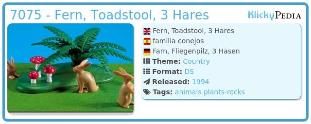 Playmobil 7075 - Fern, Toadstool, 3 Hares