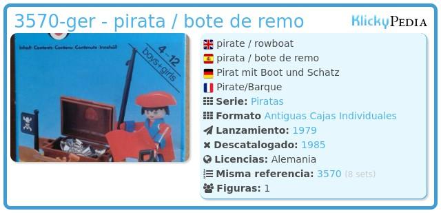 Playmobil 3570-ger - pirata / bote de remo