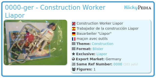Playmobil 0000-ger - Construction Worker Liapor
