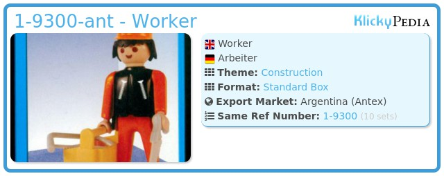 Playmobil 1-9300-ant - Worker