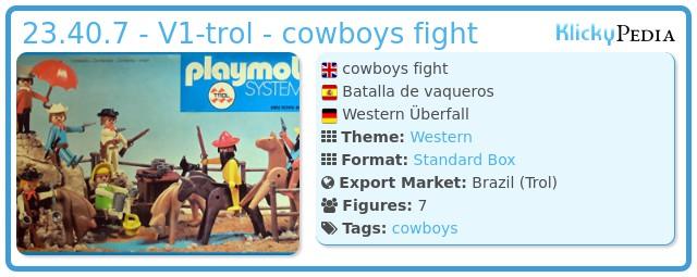 Playmobil 23.40.7 - V1-trol - cowboys fight