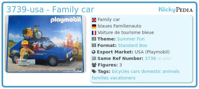 Playmobil 3739-usa - Family car