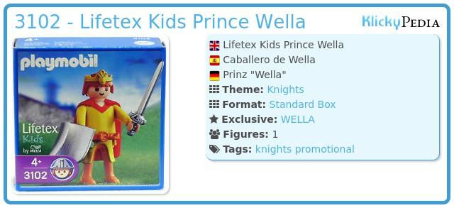 Playmobil 3102 - Lifetex Kids Prince Wella
