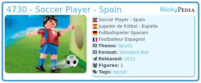 Playmobil 4730 - Soccer Player - Spain