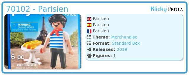 Playmobil 70102 - Parisien