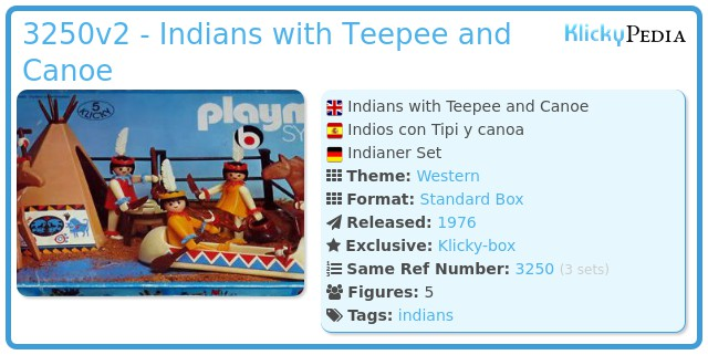 Playmobil 3250v2 - Indians with Teepee and Canoe