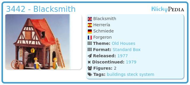 Playmobil 3442 - Blacksmith