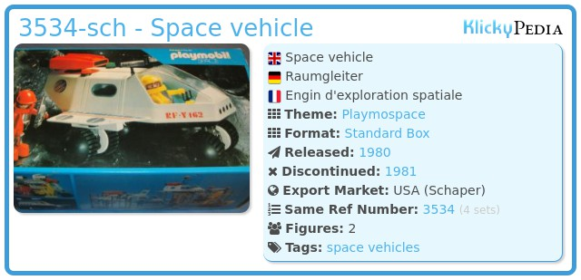 Playmobil 3534-sch - Space vehicle
