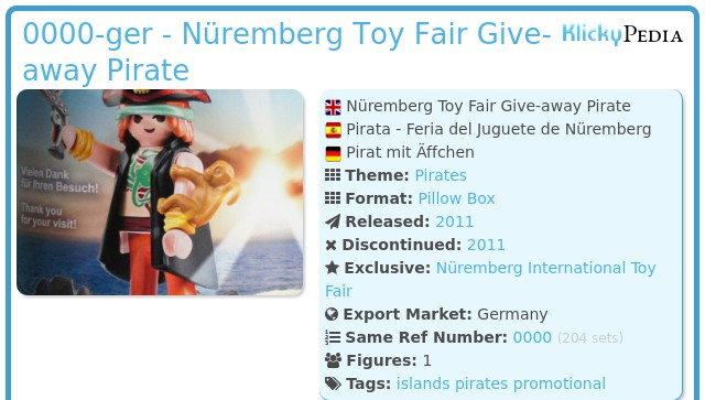 Playmobil 0000v1-ger - Nüremberg Toy Fair Give-away Pirate