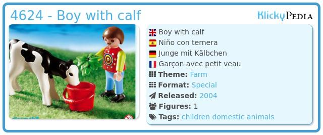 Playmobil 4624 - Boy with calf