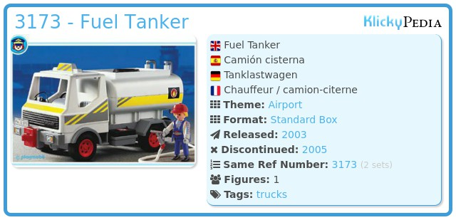 Playmobil 3173 - Fuel Tanker