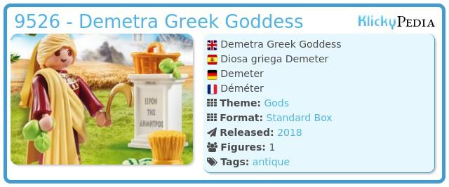 Playmobil 9526 - Demetra Greek Goddess