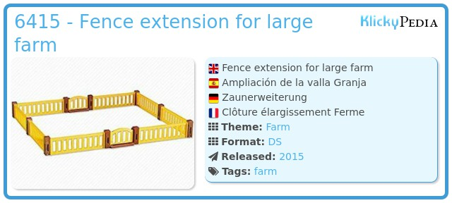 Playmobil 6415 - Fence extension for large farm
