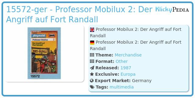 Playmobil 15572-ger - Professor Mobilux 2: Der Angriff auf Fort Randall