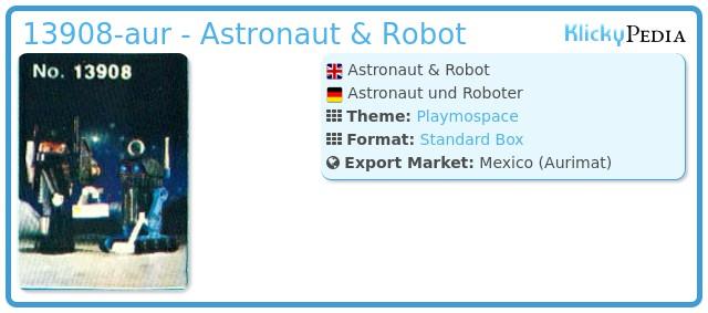 Playmobil 13908-aur - Astronaut & Robot