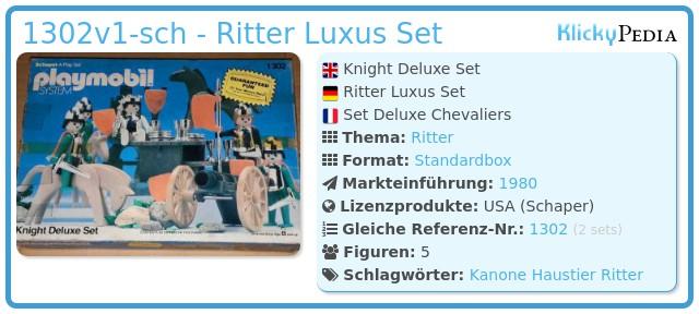 Playmobil 1302v1-sch - Ritter Luxus Set