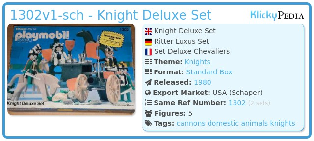 Playmobil 1302v1-sch - Knight Deluxe Set