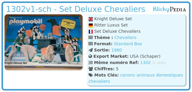 Playmobil 1302v1-sch - Set Deluxe Chevaliers