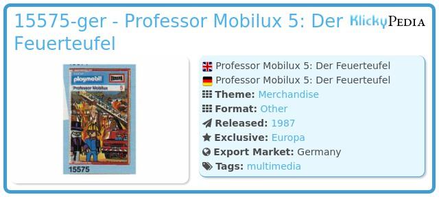 Playmobil 15575-ger - Professor Mobilux 5: Der Feuerteufel