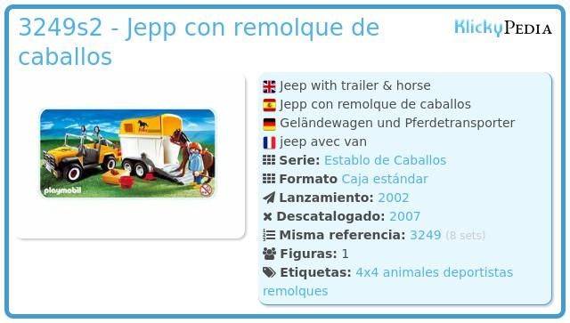 Playmobil 3249s2 - Jepp con remolque de caballos