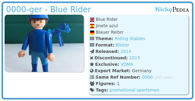 Playmobil 0000-ger - Blue Rider