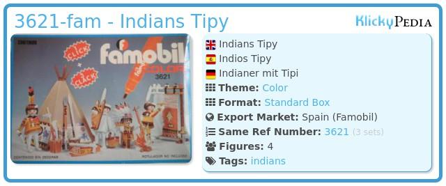 Playmobil 3621-fam - Indians Tipy