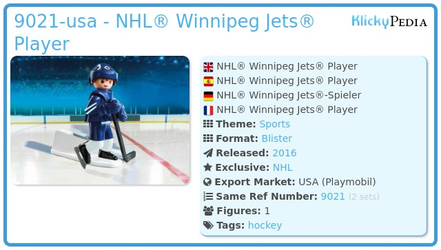 Playmobil 9021-usa - NHL® Winnipeg Jets® Player
