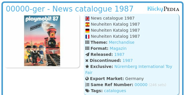Playmobil 00000-ger - News catalogue 1987