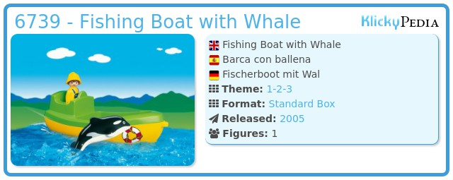 Playmobil 6739 - Fishing Boat with Whale