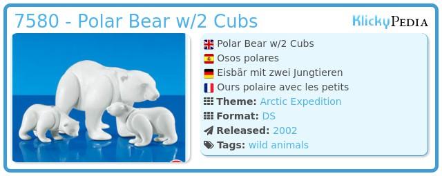 Playmobil 7580 - Polar Bear w/2 Cubs