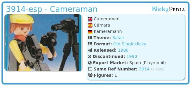 Playmobil 3914-esp - Cameraman