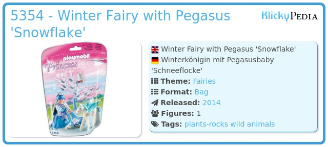Playmobil 5354 - Winter Fairy with Pegasus 'Snowflake'
