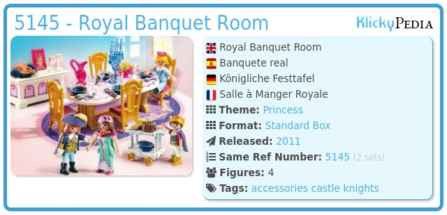 Playmobil 5145 - Royal Banquet Room