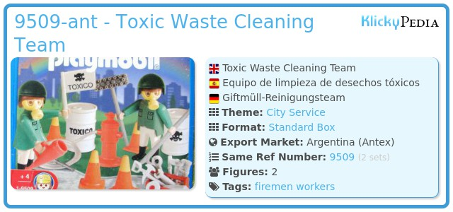 Playmobil 9509-ant - Toxic Waste Cleaning Team