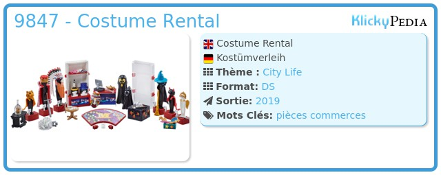 Playmobil 9847 - Costume Rental