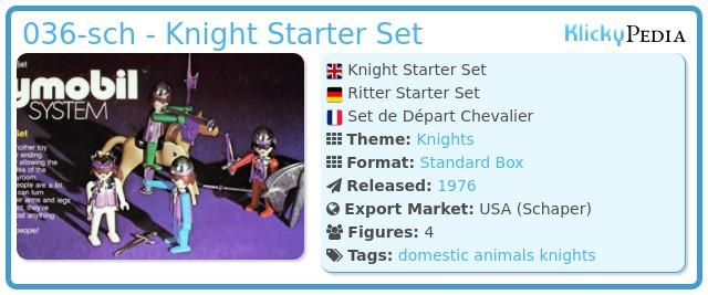Playmobil 036-sch - Knight Starter Set