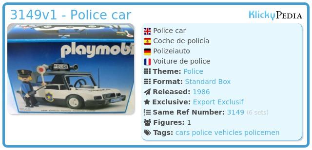 Playmobil 3149v1 - Police car