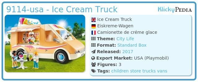Playmobil 9114-usa - Ice Cream Truck