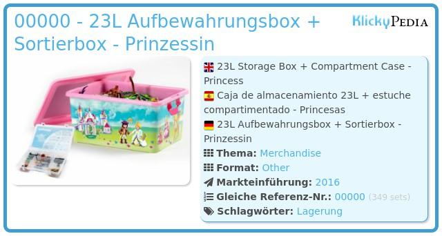 Playmobil 00000 - 23L Aufbewahrungsbox + Sortierbox - Prinzessin