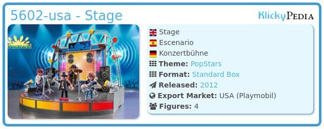 Playmobil 5602-usa - Stage