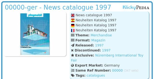 Playmobil 00000-ger - News catalogue 1997