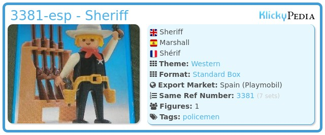 Playmobil 3381-esp - Sheriff
