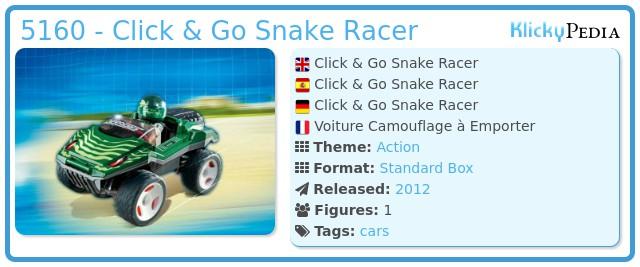 Playmobil 5160 - Click & Go Snake Racer