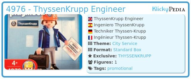 Playmobil 4976 - ThyssenKrupp Engineer