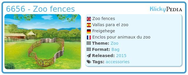 Playmobil 6656 - Zoo fences