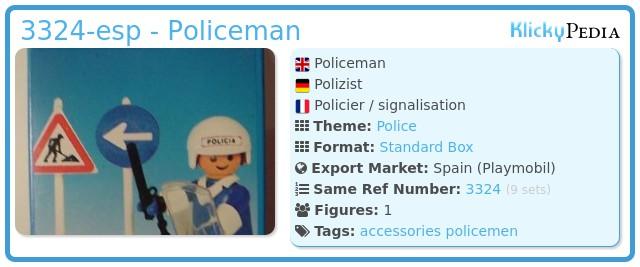 Playmobil 3324-esp - Policeman