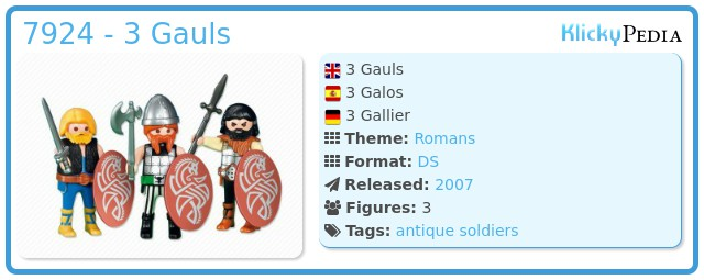 Playmobil 7924 - 3 Gauls