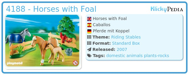 Playmobil 4188 - Horses with foal