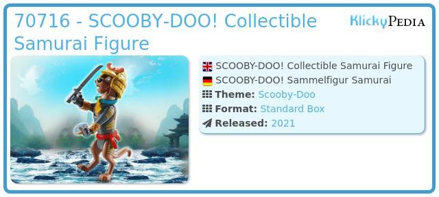 Playmobil 70716 - SCOOBY-DOO! Samurai Action Figure